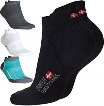 DANISH ENDURANCE Low-Cut Sportsocken (Schwarz – 3 Paare, EU 39-42) - 1